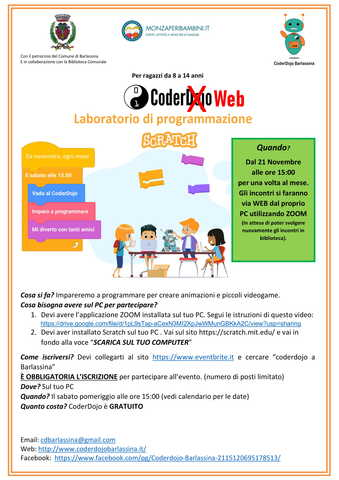 LABORATORIO DI CODERDOJO ....WEB....2020